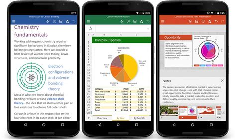 powerpoint for android microsoft word excel and powerpoint apps for android phones hit play phonedog