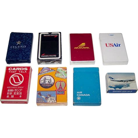 Airline Gift Card - 7 decks airline playing cards 5 ea i legend airlines ii from twoforhisheels