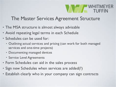 Managed Service Provider Contract Template managed service provider contracts