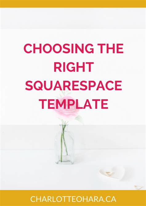 choosing the right squarespace template charlotte o hara