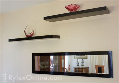 Floating Shelves with Mirror   Monroe, NY   Matching Cabinet
