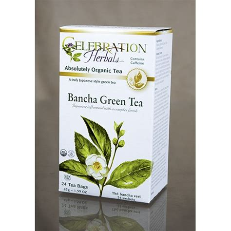 bancha tea green tea bancha celebration herbals