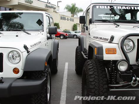 Jeep Wrangler Vs Rubicon 2007 Jk Rubicon Vs My 2000 Tj Wrangler