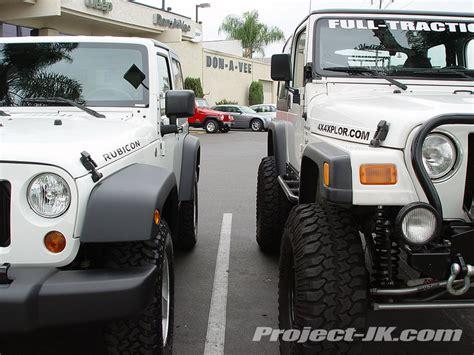 Jeep Tj Vs Jk 2007 Jk Rubicon Vs My 2000 Tj Wrangler