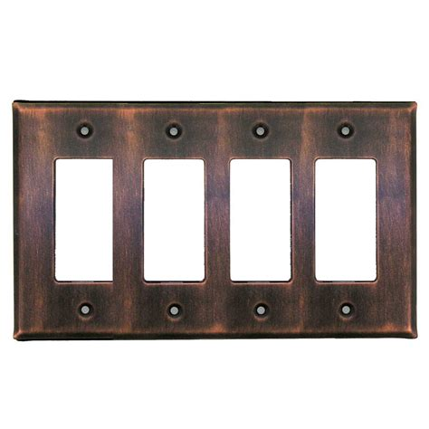 shop at home 4 antique copper decorator - 4 Decorator Wall Plate