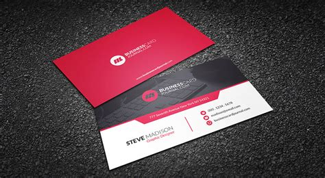 corporate business cards templates free contemporary business card template