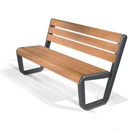 bench metal wood and metal bench treenovation