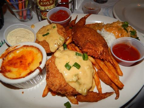 blue cafe lafayette crab dinner corn and crab bisque stuffed crab back crab cakes crabmeat etouffee