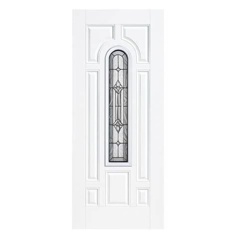 Best Exterior Doors Reviews Masonite 36 In X 80 In Premium Fan Lite Primed Steel Prehung Front Door With No Brickmold