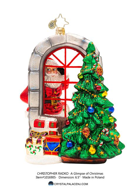 christopher radko a glimpse of christmas ornament