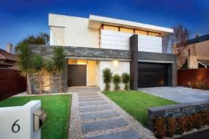 modern home landscaping modern front yard simple lines stepping stone entrance outside the house pinterest