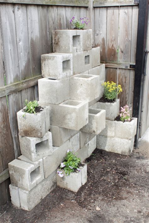 Cinder Block Planter by How To Build A Shed Out Of Cinder Blocks Bonnie