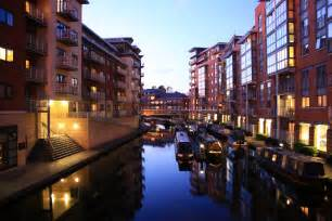 file birmingham canalside apartments at dusk jpg