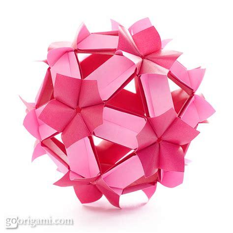 Kusudama Origami - kusudama origami gallery go origami