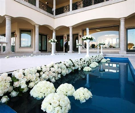 wedding aisle pool 78 best images about poolside wedding on