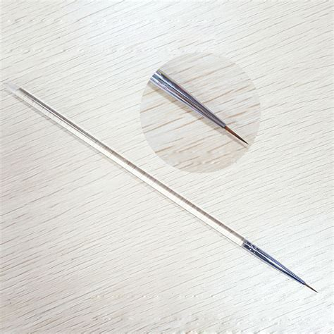 easy nail art with thin brush new nail art brush transparent handle ultra thin mink