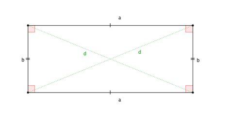 somma degli angoli interni di un parallelogramma area rettangolo perimetro diagonale formule