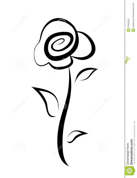 simbolo fiore simbolo rosa disegnato a mano fotografia stock immagine
