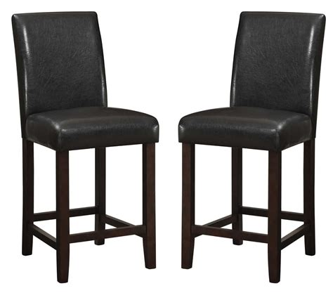 parson bar stool parson 24 quot counter height bar stool set of 2 from coaster