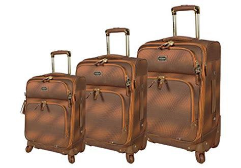 Steve Madden 3 Luggage Set by Steve Madden Luggage 3 Softside Spinner Suitcase Set Collection One Size Shadow Brown