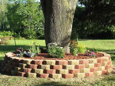 flower beds around trees raised flower beds around trees jpg 600 215 450 for the