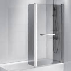 paroi de baignoire leroy merlin pare baignoire 2 volets verre de s 233 curit 233 6 mm fum 233