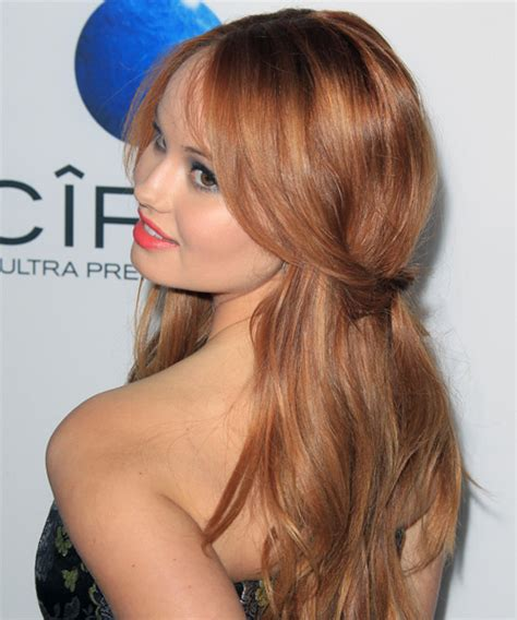 casual hairstyles with hair up debby ryan half up long straight casual half up hairstyle