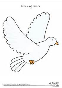 dove of peace template dove of peace printable