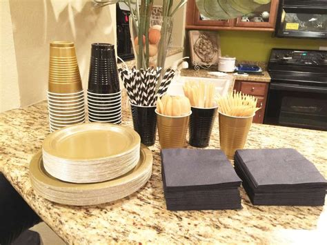themes for gold platinum black white and gold birthday party ideas gold party