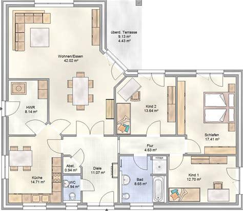 Grundrisse Bungalow 130 Qm by Grundriss Winkelbungalow 130 Qm Haus Entwurf Ideen