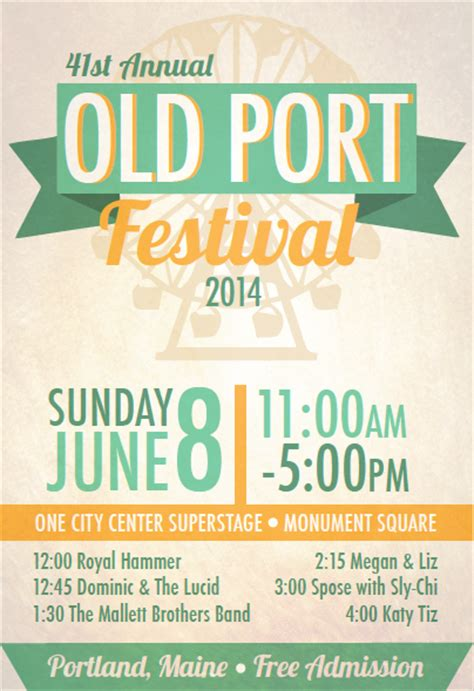 design event posters free event poster old port festival on behance