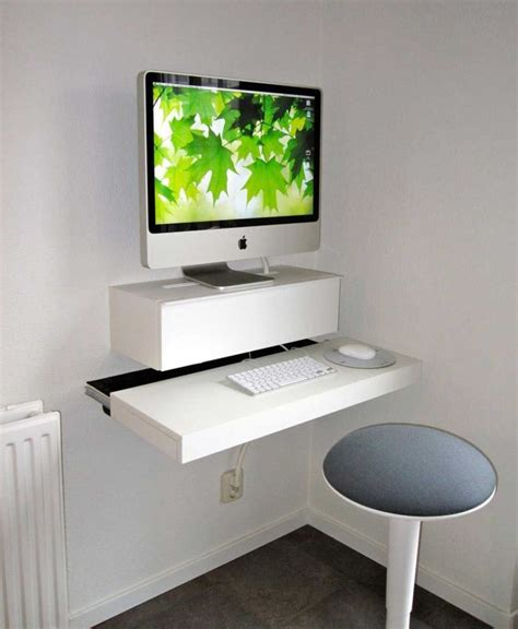 floating desk design unique and excellent floating computer desk designs