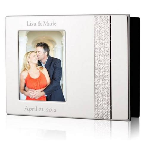 Wedding Album 4x6 by Personalized 4x6 Glitter Silver Photo Album