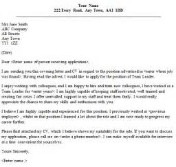 example of cover letter for team leader team leader cover letter sample