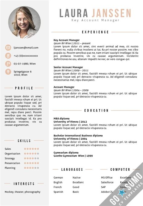 creative curriculum vitae word 49 best images about go sumo cv templates resume