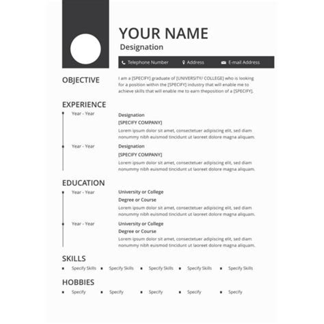 blank format of resume filetype doc 25 printable resume templates pdf doc free premium templates
