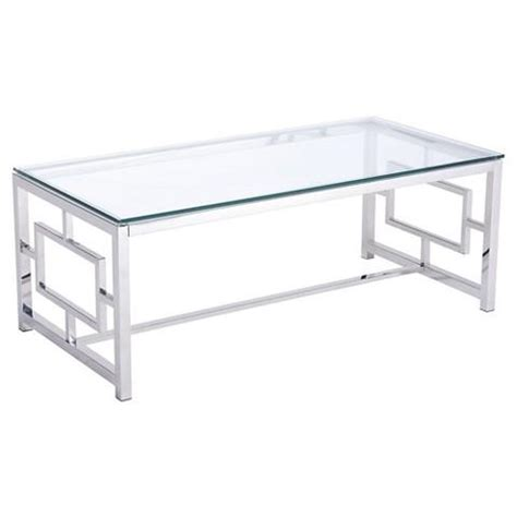 Rectangle Glass Silver Asian Inspired Coffee Table Glass Silver Coffee Table