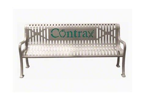 personalized park benches custom two color diamond pattern logo bench commercial