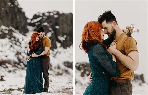 Winter Engagement Photos   Portland Wedding Photographer