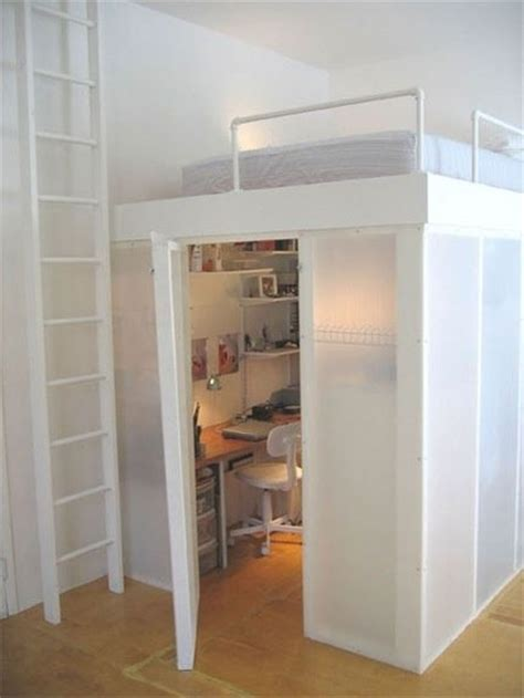 Loft Bed With Closet And Desk by 25 Best Ideas About Bunk Bed Desk On Bunk Bed