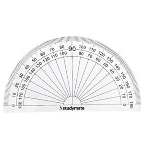 printable mini protractor studymate 10cm 180 degree protractor officeworks