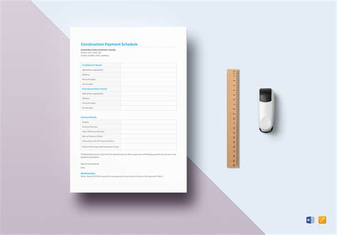 agenda template for apple pages pretty construction payment schedule template pictures