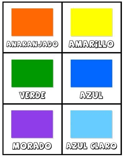 printable number flashcards in spanish free printable spanish colors cards los colores activity