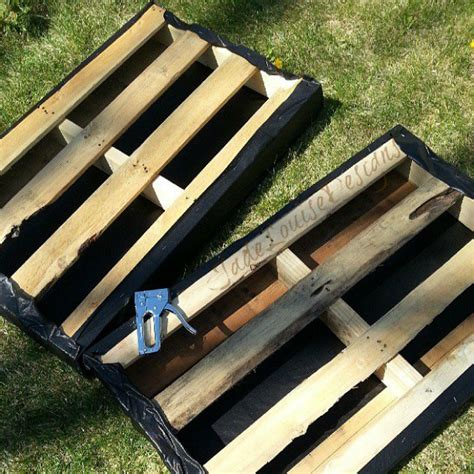diy pallet garden bed diy pallet garden how to make raised wood pallet garden bed