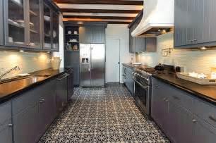 Moroccan Tile Floor   Eclectic   kitchen   Alys Beach