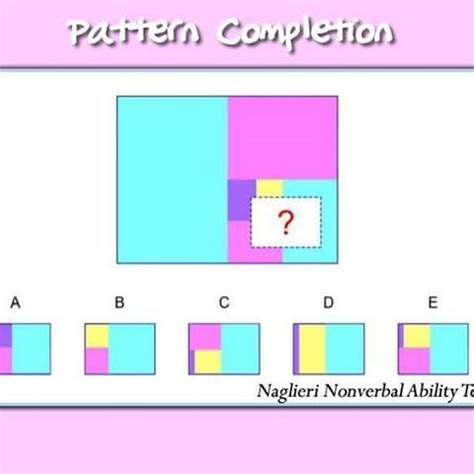 pattern completion exercises 131 best naglieri nonverbal ability test 174 nnat 174 test or