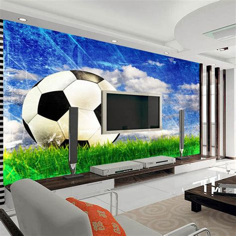 sports murals for bedrooms large mural living room bedroom study paper soccer sports