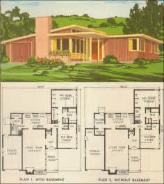 Mid Century Floor Plans by Mid Century Modern House Plans For Pleasure Ayanahouse