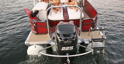 turbo swing installation ultimate towing solution for outboard motors pontoon