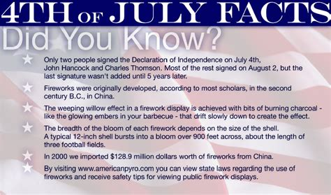 4th Of July Facts by July Fourth Almost Oldmarrieds